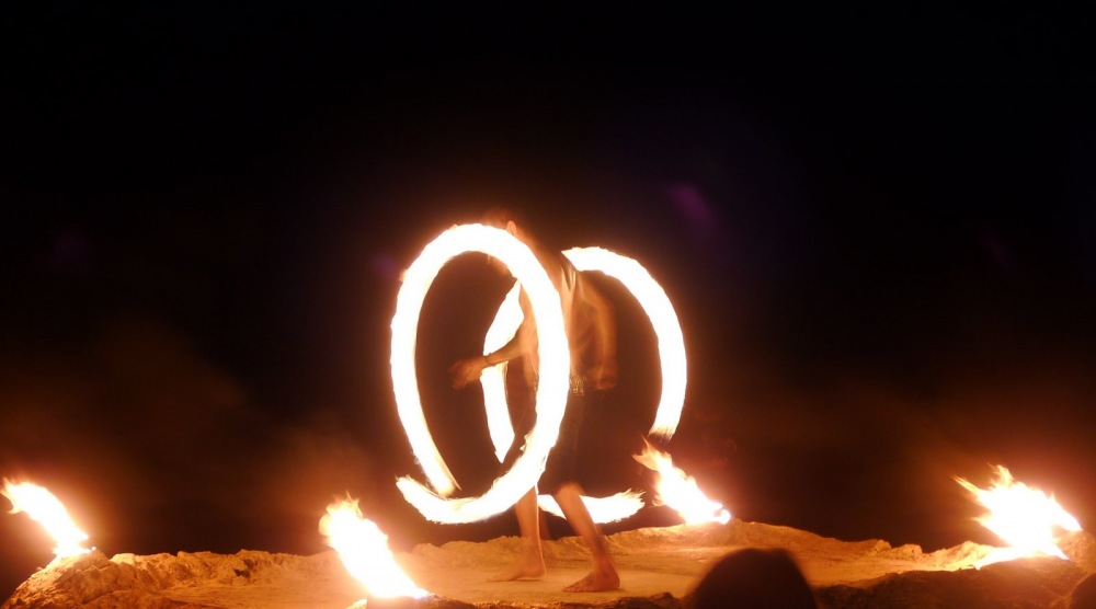 photoblog image fire dancer